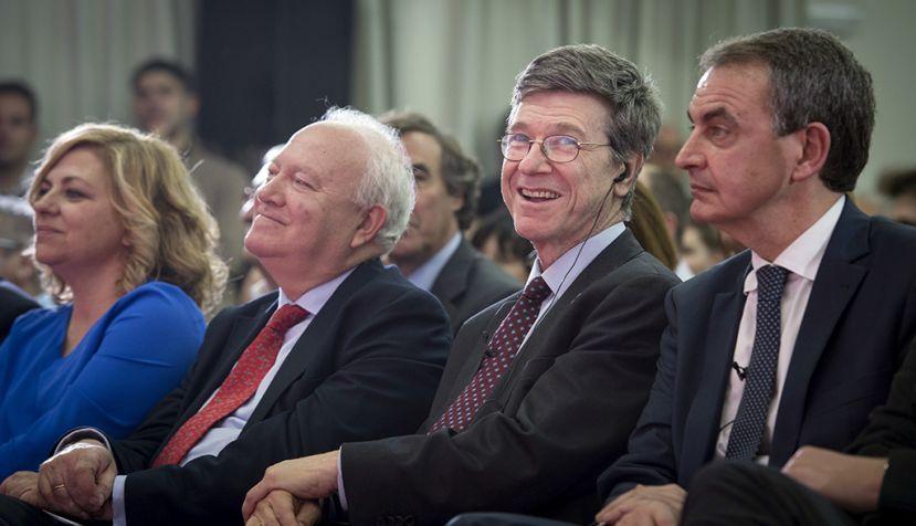 Zapatero y Sachs dialogan sobre una agenda global de izquierdas